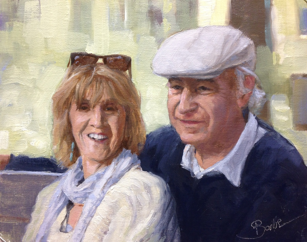 Mr and Mrs Barbe in Provence | 8x10 | oil on linen SOLD