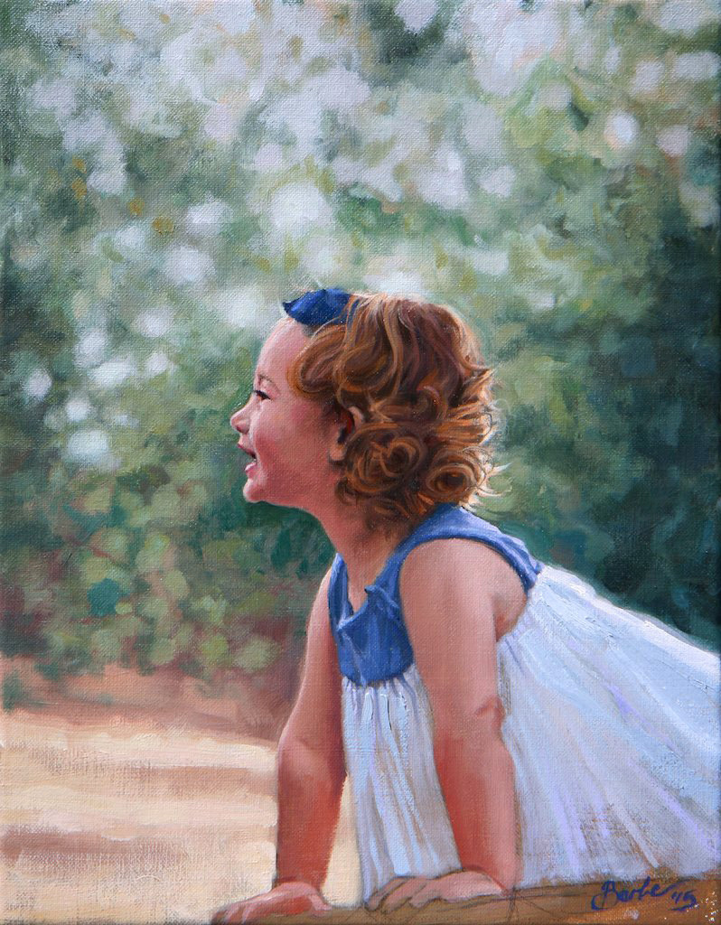 exploring in the garden | 11x14 | oil on linen