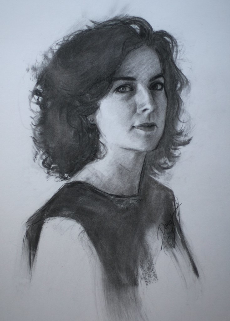 kate | charcoal on paper | 18x24